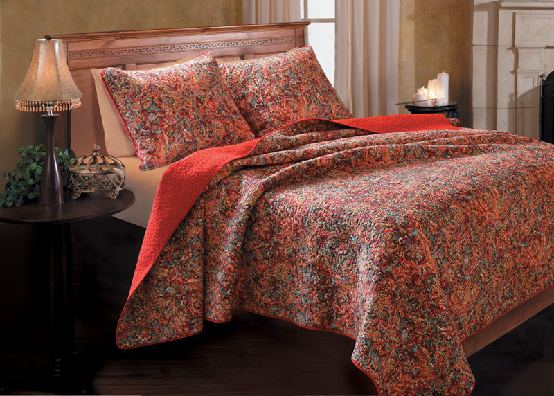 Greenland Home Fashions Persian Quilt Set