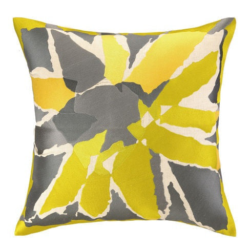 Trina Turk Bellflower Citron Embroidered Decorative Pillow