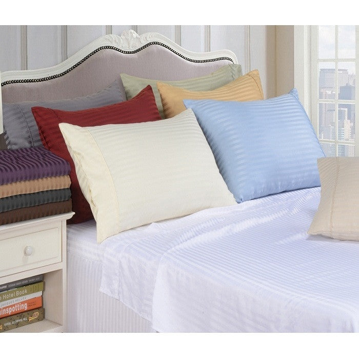 Luxor Treasures Brushed Microfiber Striped Sheet Set