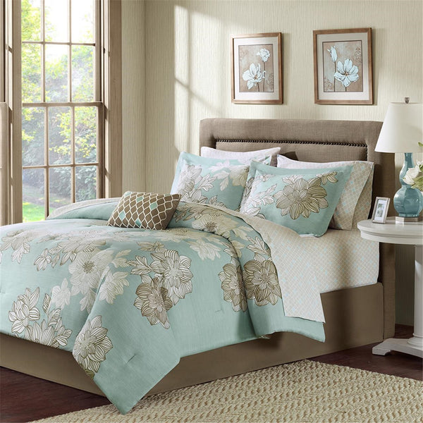 Madison Park Essentials Avalon Comforter Bed and Sheet Set