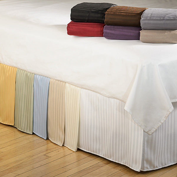 Luxor Treasures Brushed Microfiber Striped Bedskirt