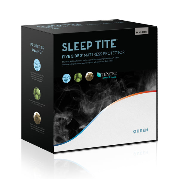 Malouf Sleep Tite Five 5ided Mattress Protector with Tencel + Omniphase