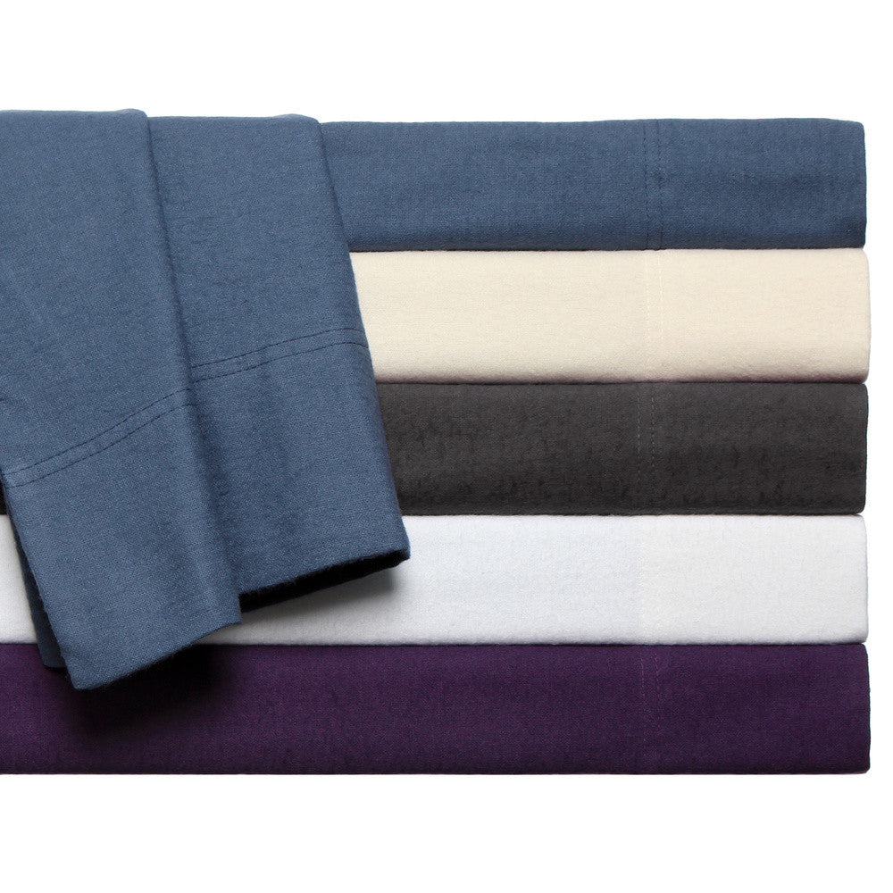 Luxor Treasures Flannel Solid Sheets Sheet Set