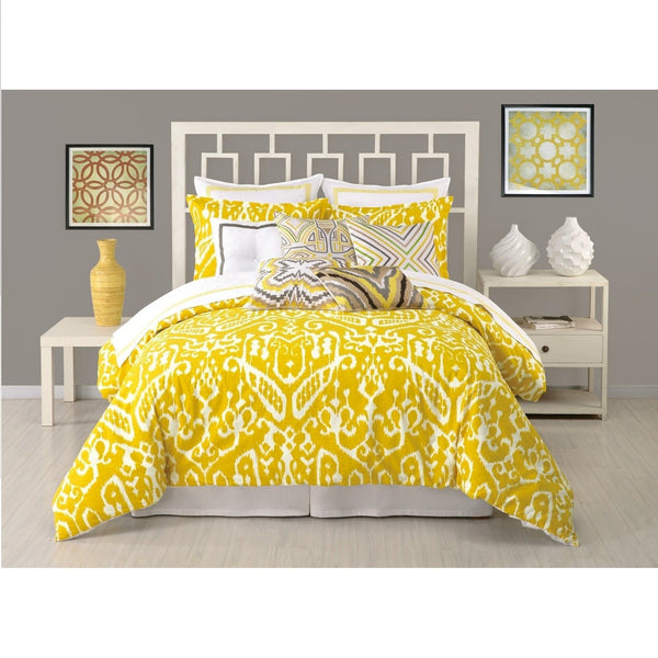 Trina Turk Ikat Yellow Comforter & Pillow Sham Set