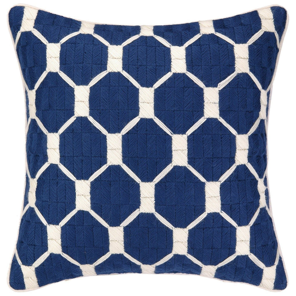 Trina Turk Montebello Navy Bargello Needlepoint Decorative Pillow