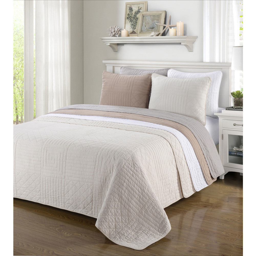 Luxor Treasures Williams 3-Piece Quilt & Pillow Sham Set