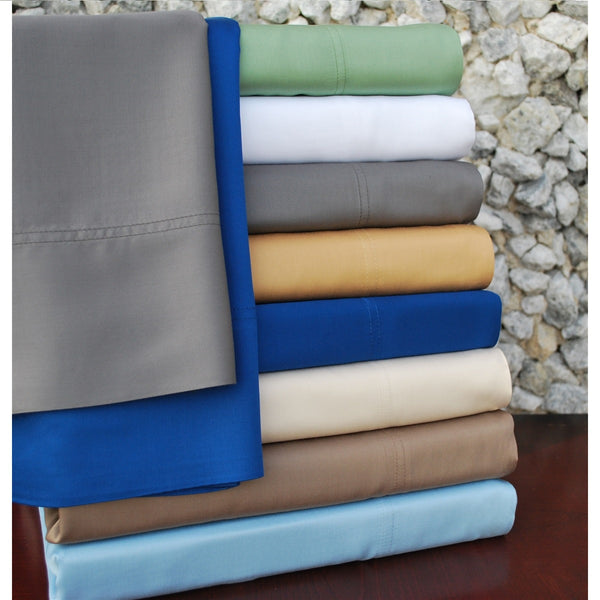 Luxor Treasures 300 Thread Count Bamboo Rayon Solid Sheet Set