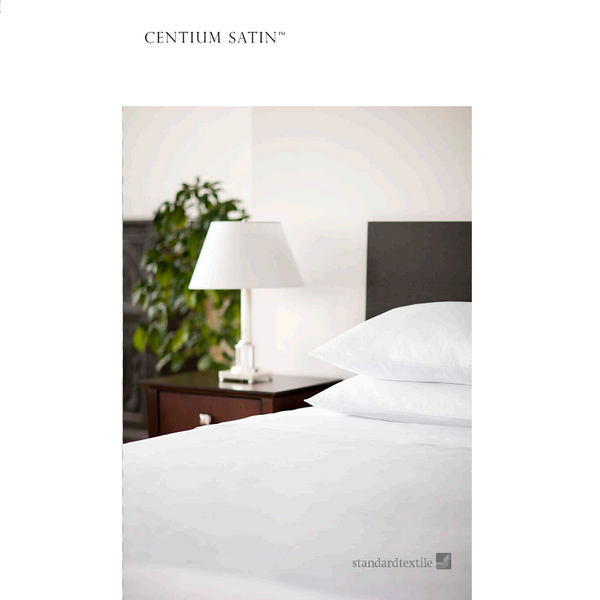 Standard Textile Centima Satin Microcheck Hotel White Fitted Sheet