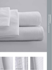 Standard Textile Comfortwill Tone-on-Tone White Striped Fitted Sheet