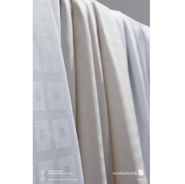 Standard Textile Comfortwill Block on Block Hotel White Flat Sheet