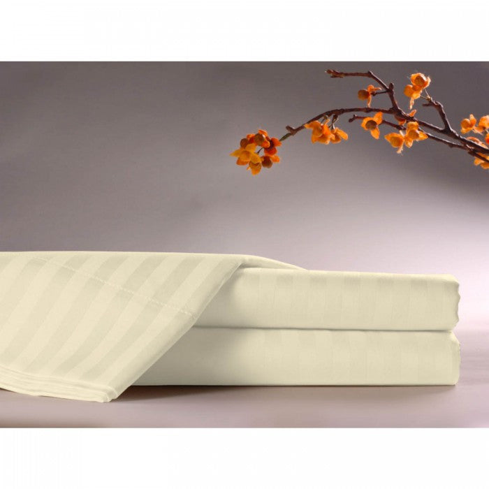 Standard Textile Comfortwill Tone on Tone Striped Bone Fitted Sheet