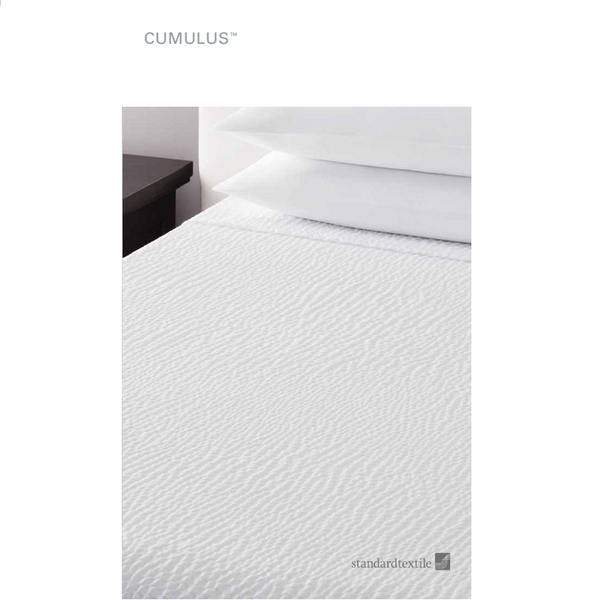 Standard Textile Cumulus White Textured Decorative Top Cover