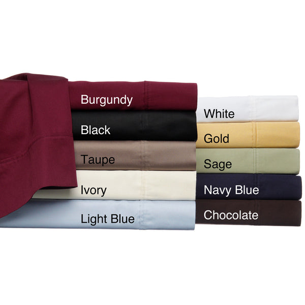 Luxor Treasures Egyptian Cotton 530 Thread Count Solid Sheet Set