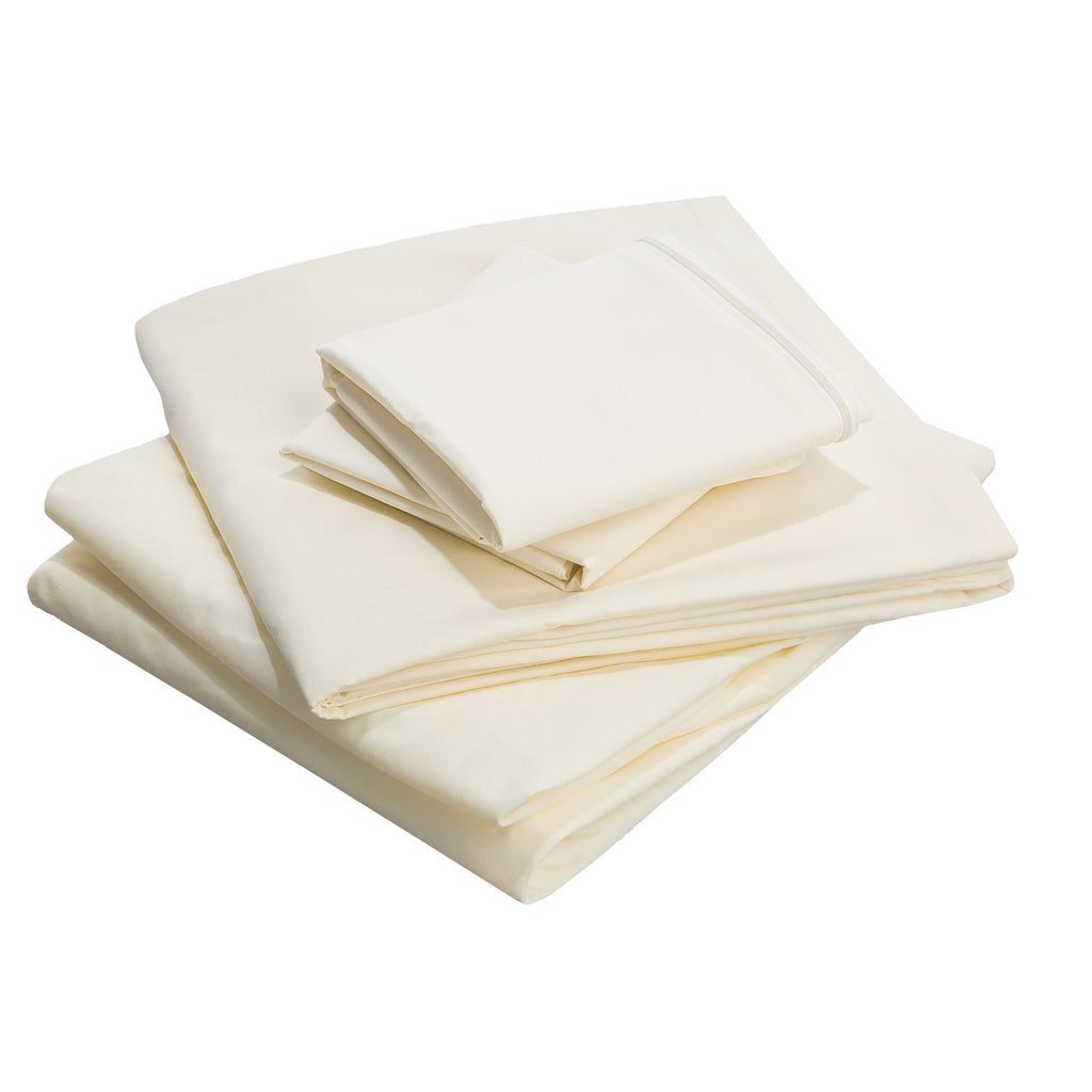 Standard Textile T-200 Classic Percale Bone Ivory Fitted Sheet