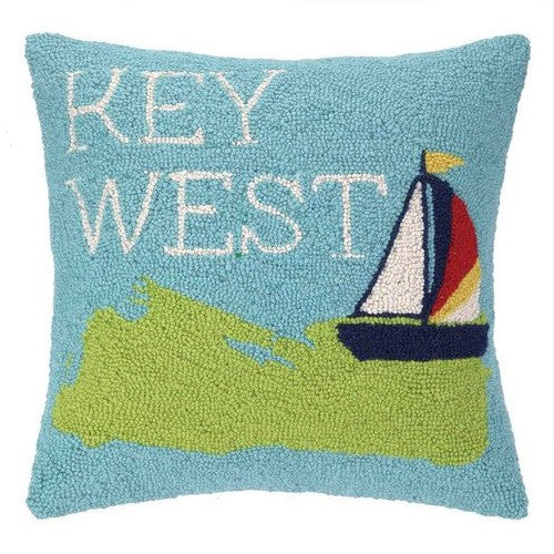 Peking Handicraft Take Me To Key West 18x18 Hook Pillow
