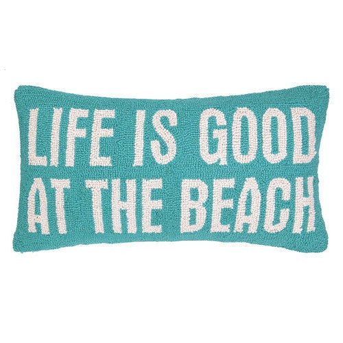 Peking Handicraft Life Is Good At The Beach 12x22 Hook Pillow