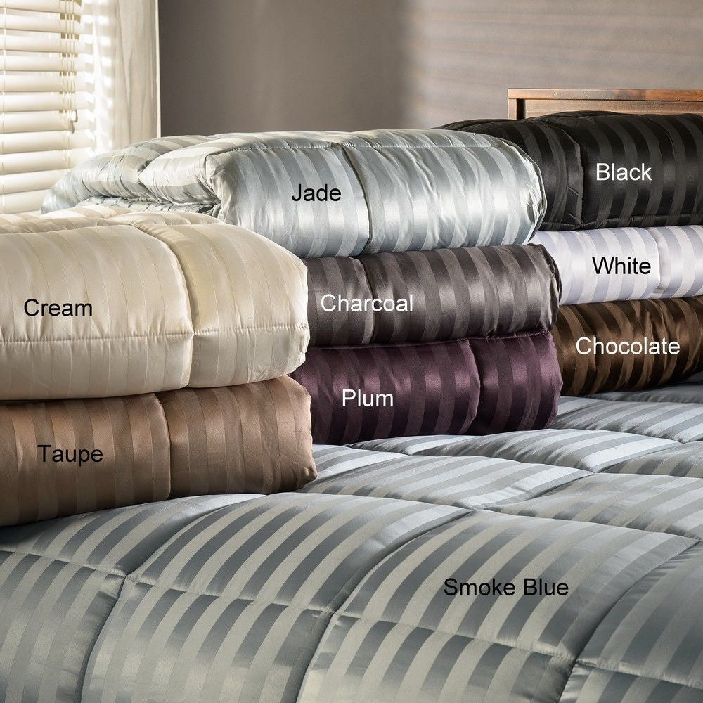 Luxor Treasures Down Alternative All Season Luxurious Stripe Comforter