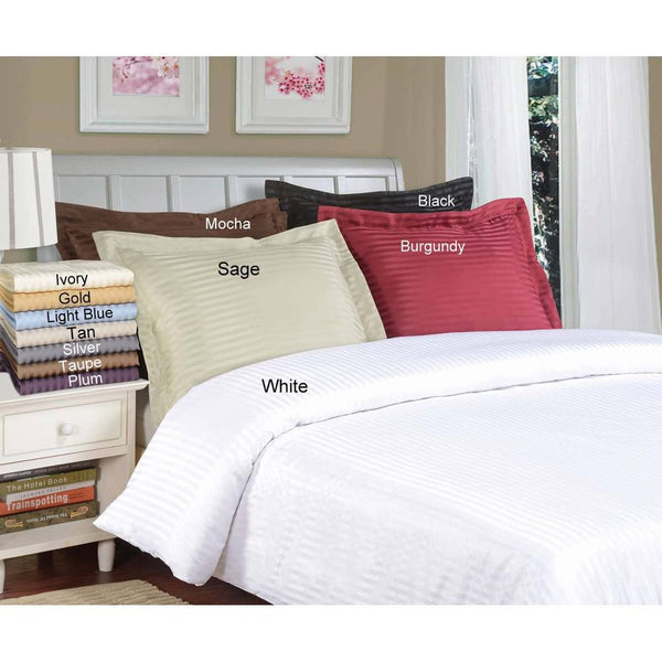 Luxor Treasures Brushed Microfiber Striped Duvet Cover & Pillow Sham Set