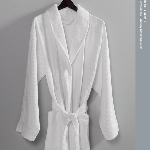 Standard Textile Private Hotel Collection Honeycomb Terry White Robe
