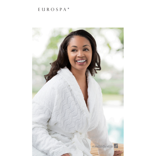 Standard Textile Private Hotel Collection EuroSpa EuroWave White Robe