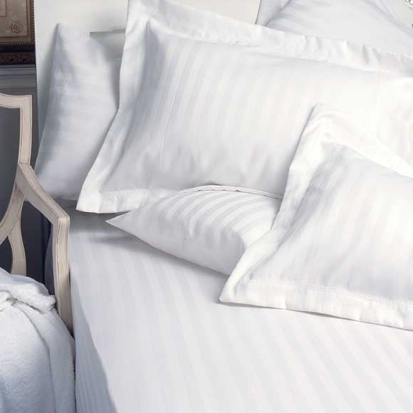Standard Textile Comfortwill Tone on Tone Striped White Pillow Sham