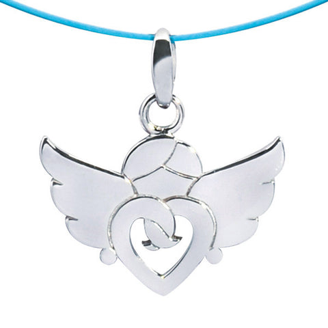 Pendentif Ange or gris 18 carats, Ref. 521.