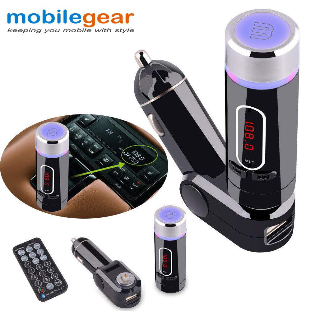 Mobilegear 2 in1 USB Car Charger & Bluetooth Mobile Music Receiver