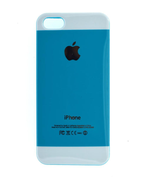 Premium Soft Silicone Rubber Mobile Cover for iPhone 5/5s - BLUE