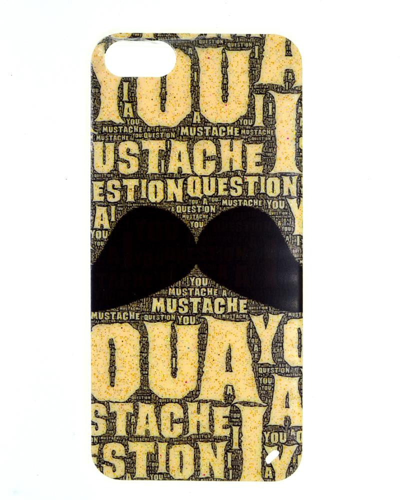 Mustache Design Soft silicone Rubber Mobile Cover for iPhone 5/5s
