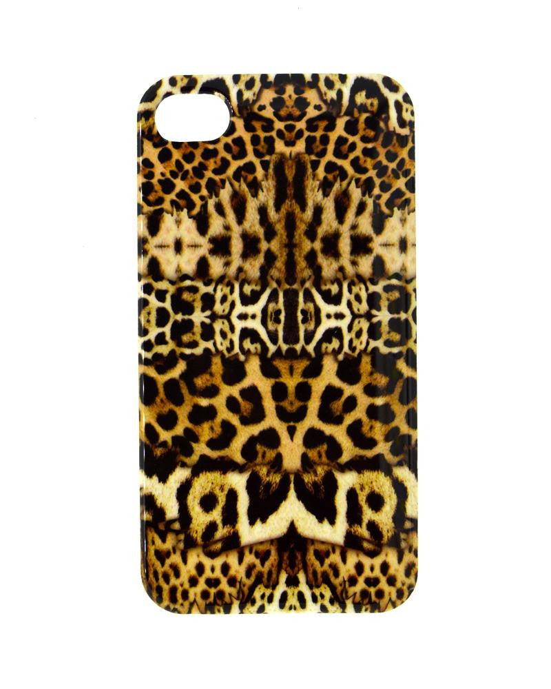 Leopard Skin Design Soft Silicone Rubber Mobile Cover for iPhone 4/4s