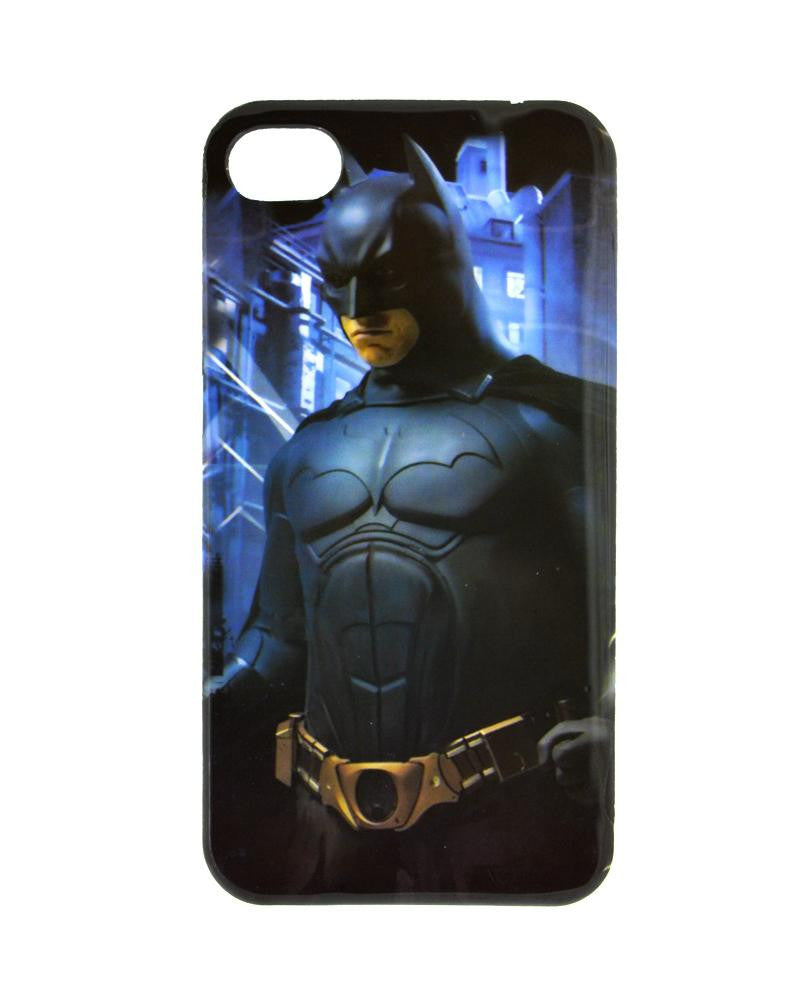 Batman Design Soft Silicone Rubber Mobile Cover for iPhone 4/4s