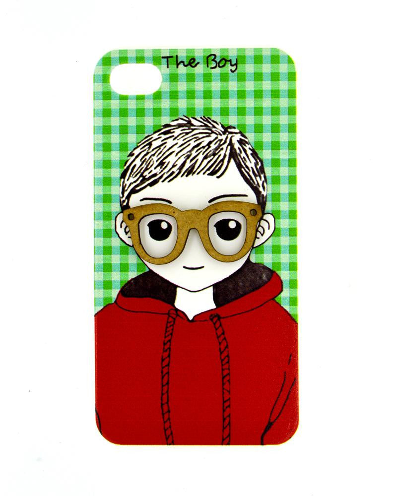Happy boy with Innocent Smile Mobile Cover for iPhone 4/4s