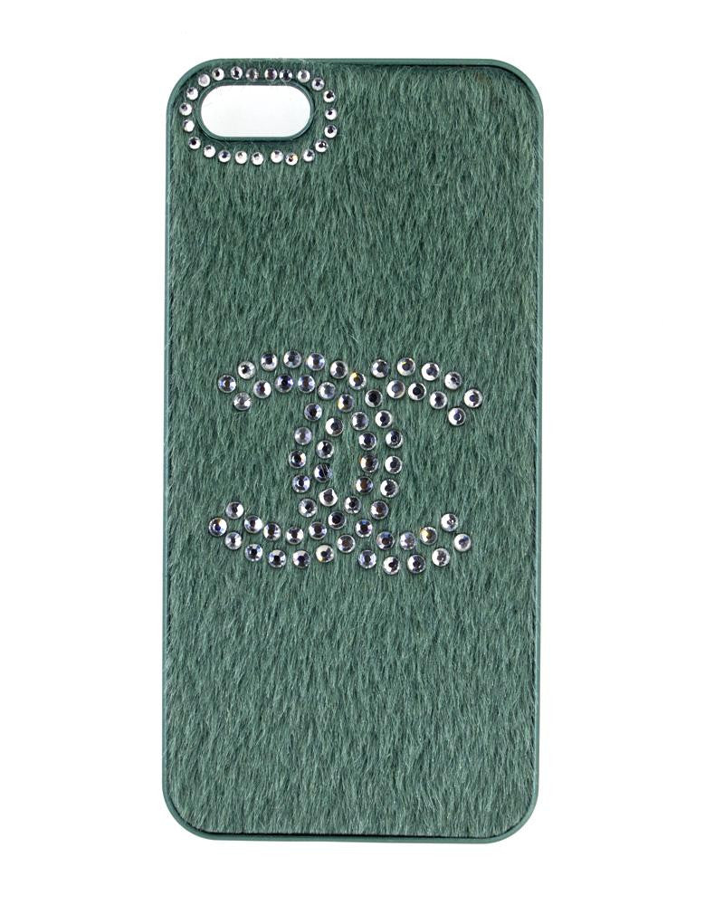 Bling Handmade Diamond Studded Furry Mobile Cover for iPhone 5/5s