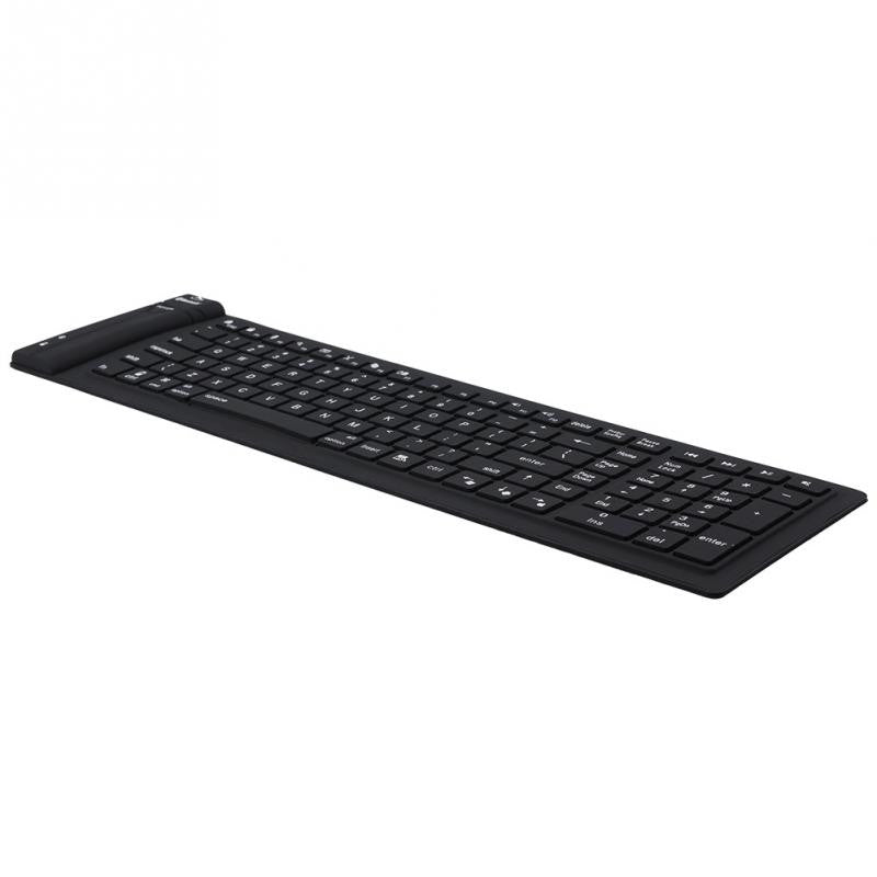 Wireless Bluetooth Keyboard With Number Pad With Waterproof Folding