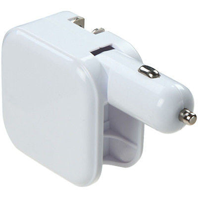 2 in 1 Dual USB 2.1A Car Charger with Foldable AC Wall Plug Adapter
