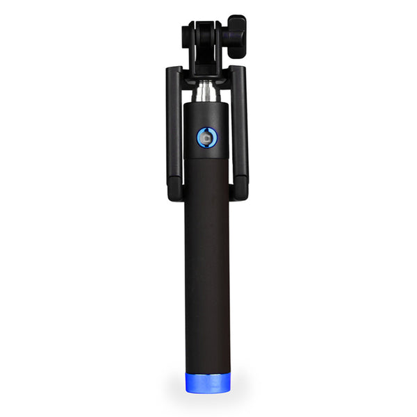 Elegant Black Selfie Stick with Bluetooth Shutter Clicker | Mobilegear