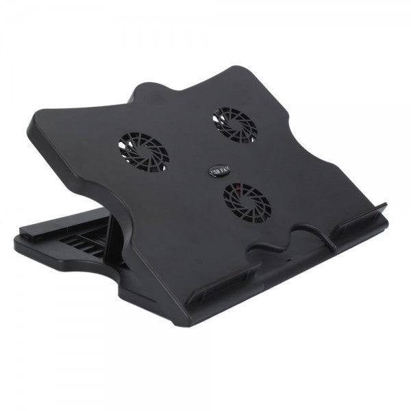 "Laptop Cooling Pad With 6 Multi Angle Adjustable Height For 10-17"" Notebook"