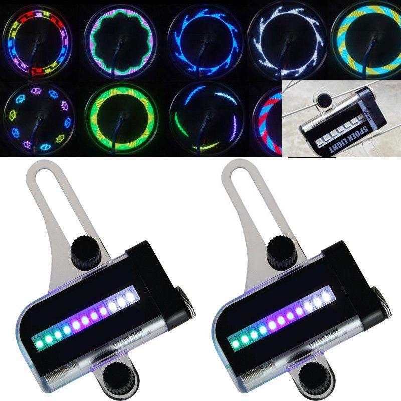 Bicycle Wheel 14 LED Flash Effect Rainbow Spoke Light