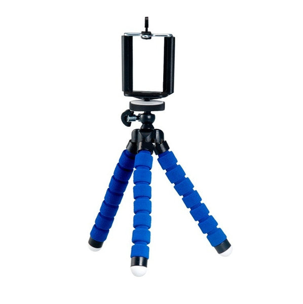 Velvet Finish Flexible Mini 6 Inch Tripod - Blue