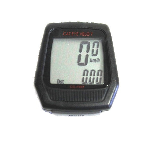 Cateye Velo 8 Digital LCD Bicycle Speedometer With Calorie Count & 8 Functions Odometer