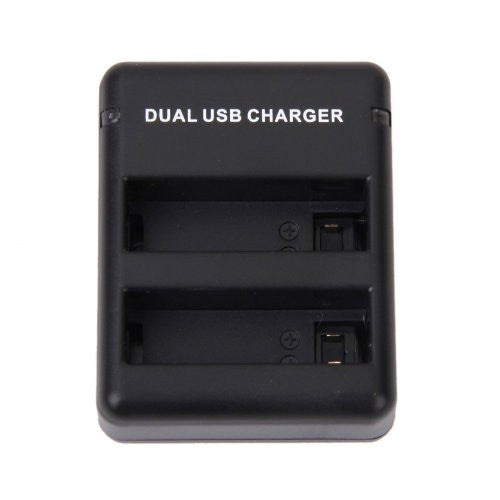 Dual Battery Charger with USB Charging Cable For GoPro HERO 4