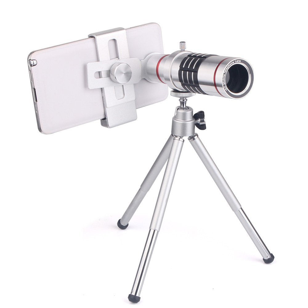 18x Universal Zoom Optical Telescope Mobile Camera telephoto Lens with Tripod