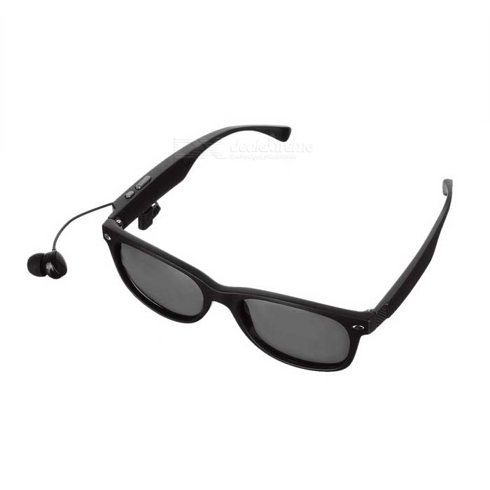 Mobilegear Wayfarer Bluetooth Sunglasses | Polarized Lenses | Wireless Stereo BT4.1 Headset