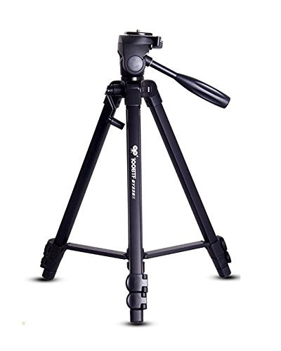 New High Quality Professional 1.51 mtr Aluminum Camera Stand Tripod & Pan Head (1/4 Screw) for SLR / DSLR / Digital & Action Cameras. Load Capacity 10KG
