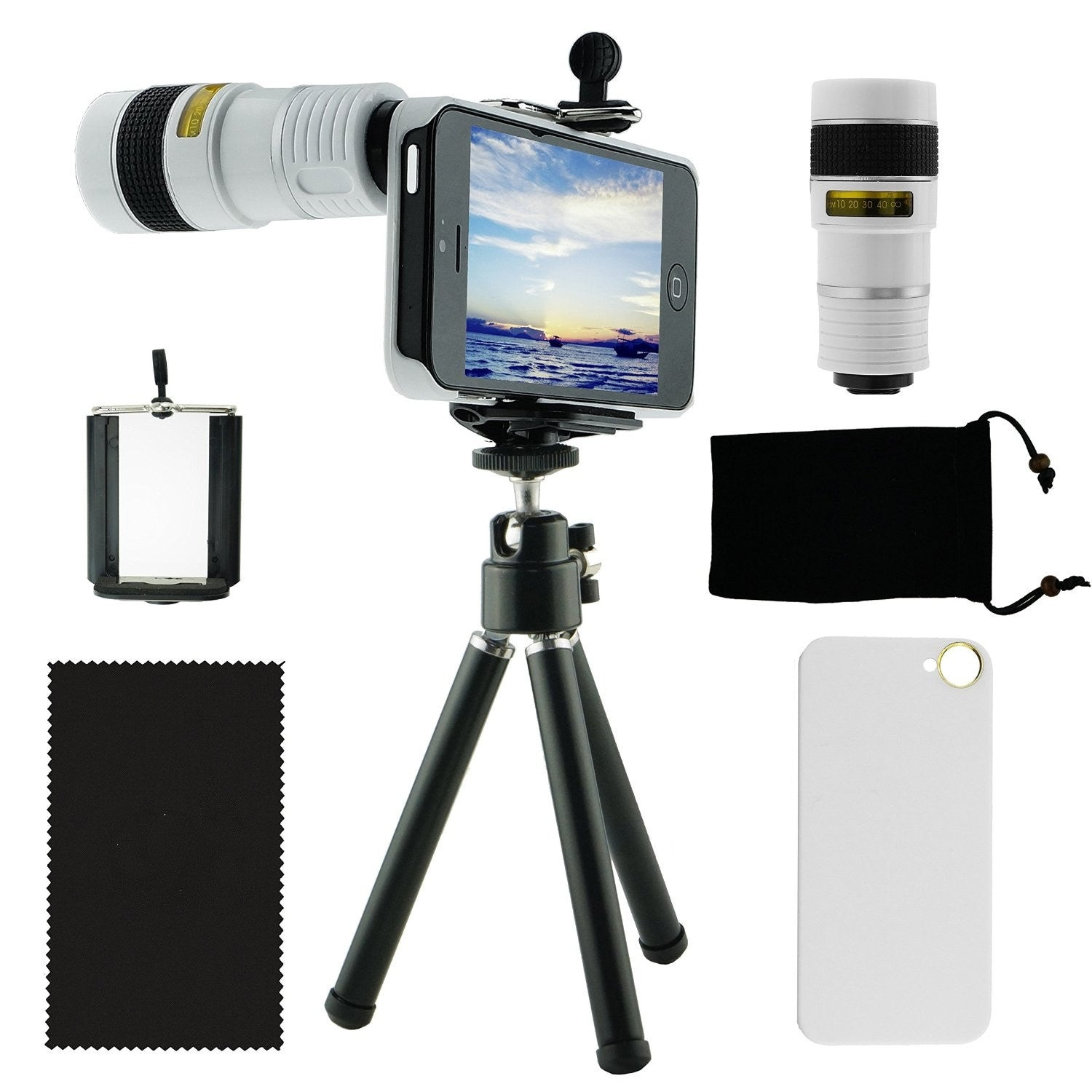 8X Zoom Telescope lens Kit for iPhone 5 With Tripod