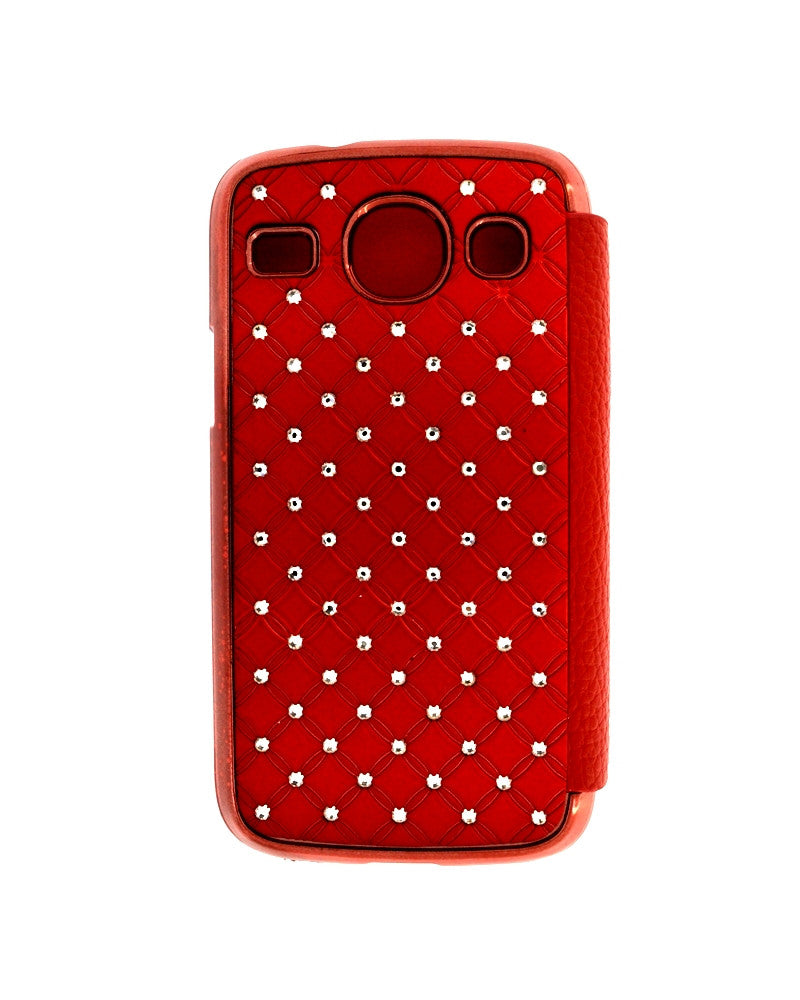 Diamond Studded Flip Cover For Samsung Galaxy Core i8262/i8260