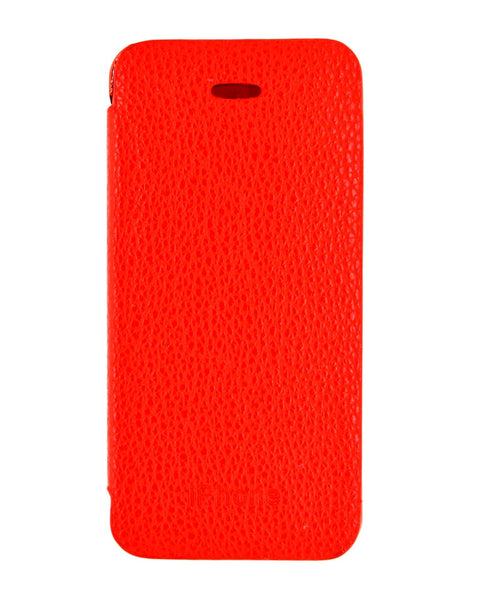 Diamond Studded Hard Shiny Flip Cover For iPhone 5/5s - RED