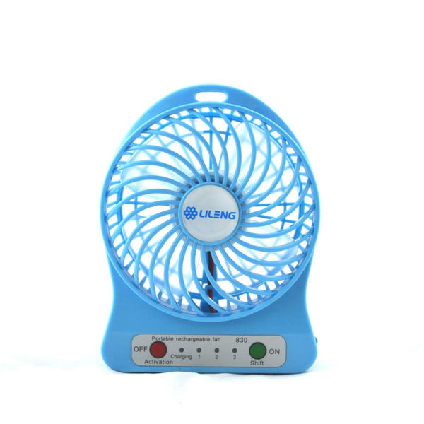 USB Powered Portable Multifunctional Cooling Fan With LED Light and Rechargeable Battery
