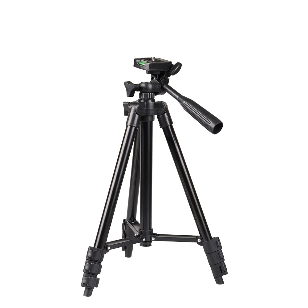 Mobilegear New High Quality Professional Aluminum Camera Stand Tripod & Pan Head (1/4 Screw) for SLR / DSLR / Digital & Action Cameras. Load Capacity 5KG