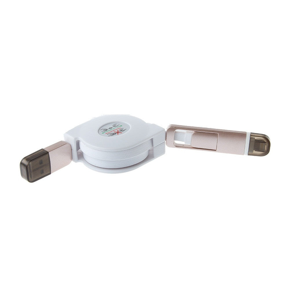 Mobilegear Retractable USB Data Cable for Android & iOS